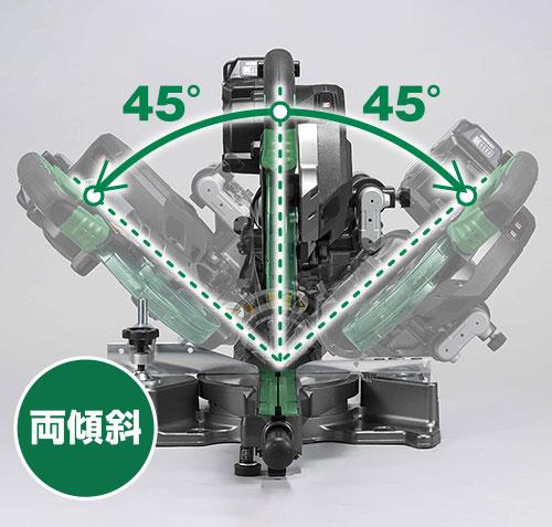 HiKOKI(ハイコーキ)コードレス卓上スライド丸のこ(C3606DRB)は、両傾斜で様々な内装材の切断が可能