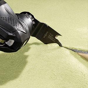 10.8V無繩多功能工具CV12DA示例:地毯切割