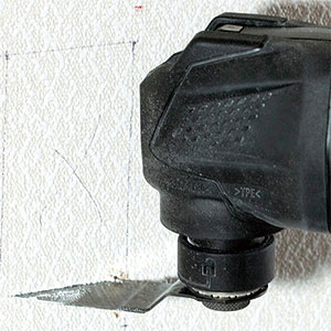 10.8V無繩多功能工具CV12DA示例:石膏板鑽孔