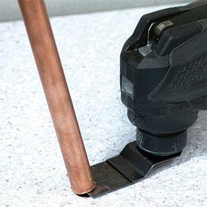 10.8V無繩多功能工具CV12DA應用示例:切割銅管(金屬管)