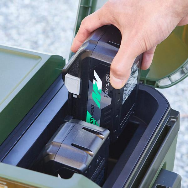 蓄電池着脱のイメージ